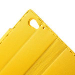 Sonata PU kožené pouzdro na mobil Sony Xperia Z1 Compact - žluté - 7