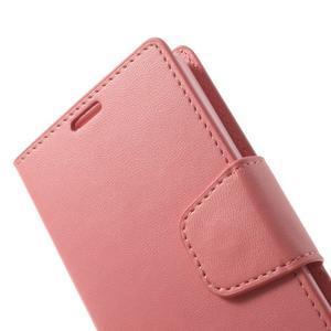 Sonata PU kožené pouzdro na mobil Sony Xperia Z1 Compact - růžové - 7