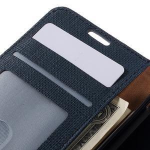 Clothy PU kožené pouzdro na Sony Xperia Z1 Compact - tmavěmodré - 7