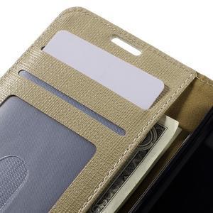 Clothy PU kožené pouzdro na Sony Xperia Z1 Compact - champagne - 7