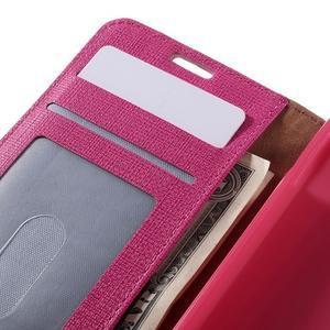 Clothy PU kožené pouzdro na Sony Xperia Z1 Compact - rose - 7