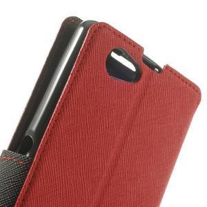 Okýnkové pouzdro na mobil Sony Xperia Z1 Compact - červené - 7