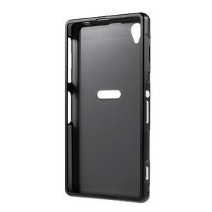 Kovový kryt s plastovými zády na Sony Xperia Z1 - černý - 7