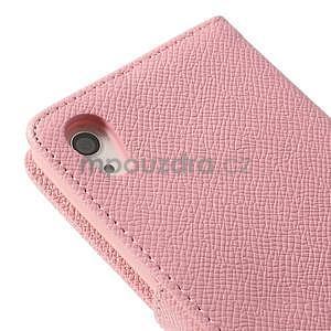 Stylové peněženkové pouzdro na Sony Xperia Z2 - růžové - 7