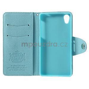 Stylové peněženkové pouzdro na Sony Xperia Z2 - světle modré - 7