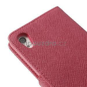 Stylové peněženkové pouzdro na Sony Xperia Z2 - rose - 7