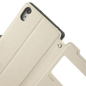 Okýnkové pouzdro na mobil Sony Xperia Z2 - bílé - 7