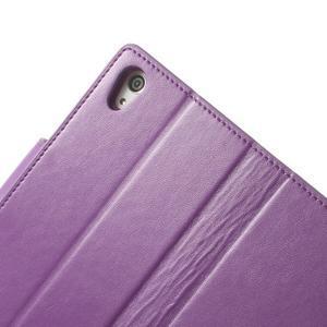 Sonata PU kožené pouzdro na mobil Sony Xperia Z2 - fialové - 7