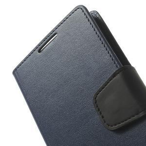 Sonata PU kožené pouzdro na mobil Sony Xperia Z2 - tmavěmodré - 7