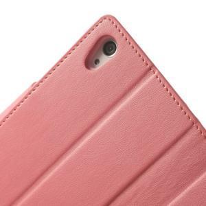 Sonata PU kožené pouzdro na mobil Sony Xperia Z2 - růžové - 7