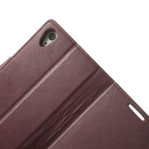 Sonata PU kožené pouzdro na mobil Sony Xperia Z2 - vínové - 7
