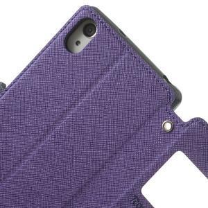 Okýnkové pouzdro na mobil Sony Xperia Z2 - fialové - 7