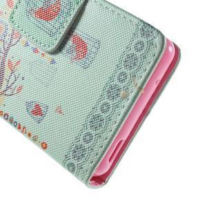 Pictu peněženkové pouzdro na Sony Xperia Z3 Compact - ptáček v kleci - 7