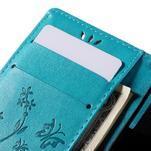 Butterfly PU kožené pouzdro na mobil Sony Xperia Z3 Compact - modré - 7/7