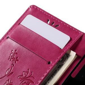 Butterfly PU kožené pouzdro na mobil Sony Xperia Z3 Compact - rose - 7