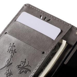 Butterfly PU kožené pouzdro na mobil Sony Xperia Z3 Compact - šedé - 7