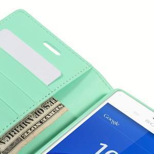 Sonata PU kožené pouzdro na mobil Sony Xperia Z3 - azurové - 7