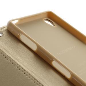 Luxury PU kožené pouzdro na mobil Sony Xperia Z3 - champagne - 7