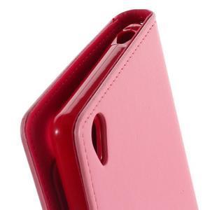 Luxury PU kožené pouzdro na mobil Sony Xperia Z3 - růžové - 7