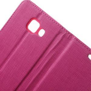 Cloth peněženkové pouzdro na mobil Samsung Galaxy A3 (2016) - rose - 7