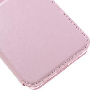 PU kožené pouzdro s okýnkem na Samsung Galaxy A3 (2016) - růžové - 7