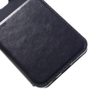 PU kožené pouzdro s okýnkem na Samsung Galaxy A3 (2016) - tmavěmodré - 7