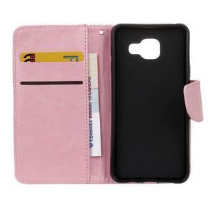 Hoor PU kožené pouzdro na mobil Samsung Galaxy A3 (2016) - růžové - 7