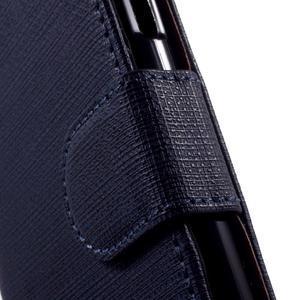 Cloth peněženkové pouzdro na mobil Samsung Galaxy A3 (2016) - tmavěmodré - 7