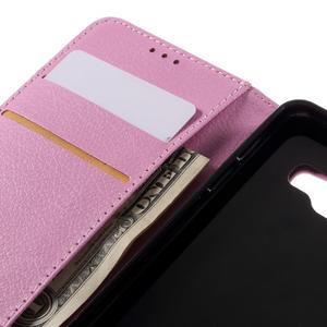 Liched koženkové pouzdro na Samsung Galaxy A3 (2016) - růžové - 7