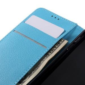 Liched koženkové pouzdro na Samsung Galaxy A3 (2016) - světlemodré - 7