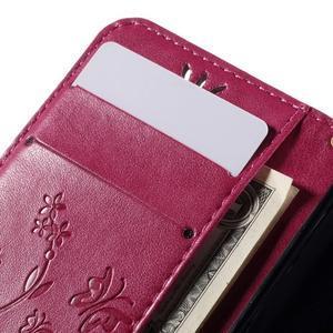 Butterfly pouzdro na mobil Samsung Galaxy Trend 2 Lite - rose - 7