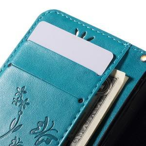 Butterfly pouzdro na mobil Samsung Galaxy Trend 2 Lite - modré - 7