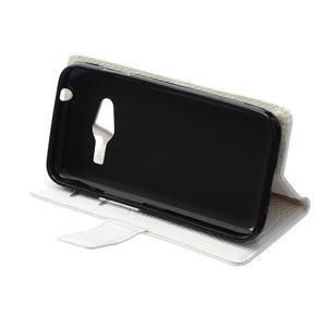 Croco peněženkové pouzdro na Samsung Galaxy Trend 2 Lite - bílé - 7