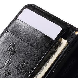 Butterfly pouzdro na mobil Samsung Galaxy Trend 2 Lite - černé - 7