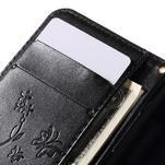Butterfly pouzdro na mobil Samsung Galaxy Trend 2 Lite - černé - 7/7