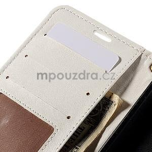 Croco peněženkové pouzdro s krokodýlím motivem na Microsoft Lumia 640 - bílé - 7