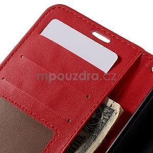Croco peněženkové pouzdro s krokodýlím motivem na Microsoft Lumia 640 - červené - 7