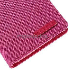 Canvas textilní/koženkové pouzdro na Sony Xperia M4 Aqua - rose - 7