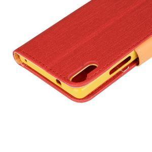 Knížkové pouzdro na mobil Lenovo Vibe Shot - červené - 7