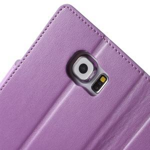 Diary PU kožené pouzdro na mobil Samsung Galaxy S6 -fialové - 7