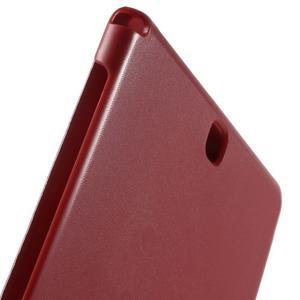 Trifold polohovatelné pouzdro na Samsung Galaxy Tab A 9.7 - červené - 7