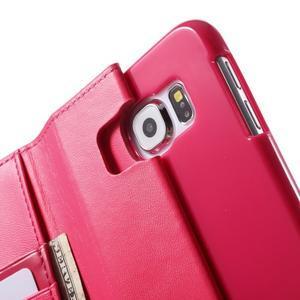 Diary PU kožené pouzdro na mobil Samsung Galaxy S6 -rose - 7
