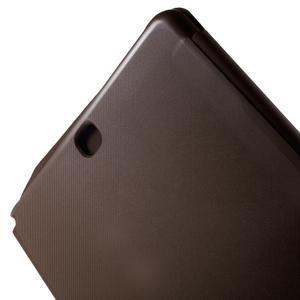 Trifold polohovatelné pouzdro na Samsung Galaxy Tab A 9.7 - hnědé - 7