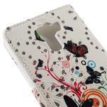 Peněženkové pouzdro s třpytivými flitry pro Huawei Honor 7 - motýlci - 7/7