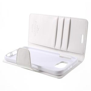 Diary PU kožené pouzdro na mobil Samsung Galaxy S6 - bílé - 7