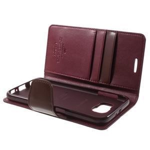 Diary PU kožené pouzdro na mobil Samsung Galaxy S6 - vínové - 7