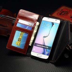 Breck peněženkové pouzdro na Samsung Galaxy S6 - hnědé/černé - 7