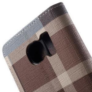 Módní stylové pouzdri na Samsung Galaxy S6 - hnědé - 7