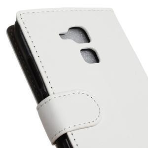 Peněženkové PU kožené pouzdro na mobil Honor 7 Lite - bílé - 7