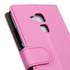 Peněženkové PU kožené pouzdro na mobil Honor 7 Lite - rose - 7